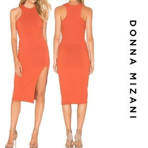 Donna Mizani Racer Front Midi Slit Dress Lg Spice